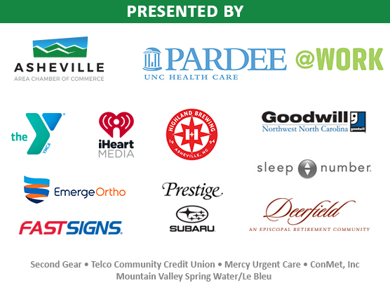 Logos from all the Chamber Challenge Sponsors: Pardee UNC Health Care